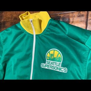 Mitchell & Ness Jackets & Coats - Seattle SuperSonics Vintage ZIP Jacket Size 3XL